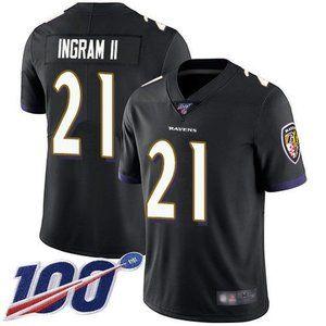 Ravens Mark Ingram II 100th Season Jersey 2